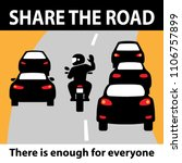 share the road  motorcyclist... | Shutterstock .eps vector #1106757899