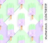 ice cream popsicles pastel... | Shutterstock .eps vector #1106758559