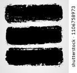 set of three black grunge... | Shutterstock . vector #1106758973
