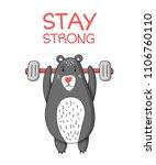 stay strong lettering phrase... | Shutterstock .eps vector #1106760110