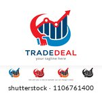 trade deal logo symbol template ... | Shutterstock .eps vector #1106761400
