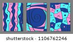 abstract backgrounds set with...   Shutterstock .eps vector #1106762246