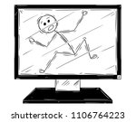 cartoon stick drawing... | Shutterstock .eps vector #1106764223