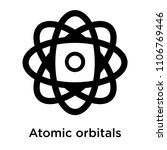 atomic orbitals icon vector... | Shutterstock .eps vector #1106769446