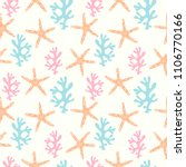 seamless pattern with coral... | Shutterstock .eps vector #1106770166