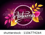 vector autumn sale banner with... | Shutterstock .eps vector #1106774264