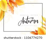 vector autumn sale banner with... | Shutterstock .eps vector #1106774270