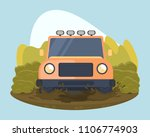 automobile sport. jeep trial.... | Shutterstock .eps vector #1106774903