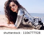 fashion outdoor photo of...   Shutterstock . vector #1106777528