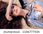 fashion outdoor photo of...   Shutterstock . vector #1106777534
