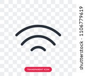 wifi vector icon isolated on... | Shutterstock .eps vector #1106779619