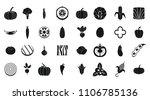 vegetables icon set. simple set ... | Shutterstock . vector #1106785136