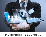 technology in the hands of... | Shutterstock . vector #110678570
