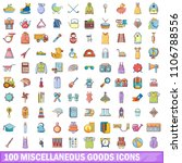 100 miscellaneous goods icons... | Shutterstock . vector #1106788556