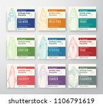 premium quality fish fillets...   Shutterstock .eps vector #1106791619