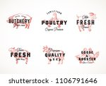 premium quality retro cattle... | Shutterstock .eps vector #1106791646