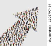 large group of people in the... | Shutterstock .eps vector #1106797499