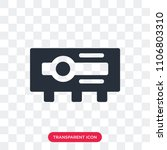 projector vector icon isolated...   Shutterstock .eps vector #1106803310