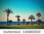 landscape of the beach of the... | Shutterstock . vector #1106803520