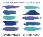 trendy label brush stroke... | Shutterstock .eps vector #1106814050