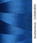 texture of blue thread in spool | Shutterstock . vector #110681804