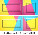 set of bright colour geometric... | Shutterstock .eps vector #1106819000