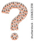 faq composition made with wide... | Shutterstock .eps vector #1106821358