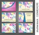 minimal vector covers set.... | Shutterstock .eps vector #1106824190