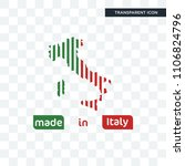 made in italy vector icon...   Shutterstock .eps vector #1106824796