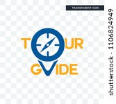 tour guide vector icon isolated ... | Shutterstock .eps vector #1106824949