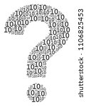 question composition made from... | Shutterstock .eps vector #1106825453