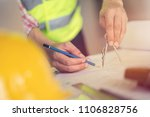 engineer man working with... | Shutterstock . vector #1106828756
