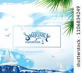 summer vacation illustration...   Shutterstock .eps vector #1106834249