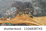 a lot of waste is disposed of... | Shutterstock . vector #1106838743