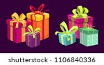 set of gift boxes. vector | Shutterstock .eps vector #1106840336