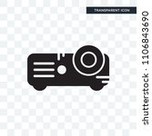 projector vector icon isolated...   Shutterstock .eps vector #1106843690
