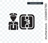policeman vector icon isolated... | Shutterstock .eps vector #1106843780
