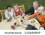 friends having lunch together... | Shutterstock . vector #110684849