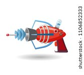 cartoon retro space blaster ... | Shutterstock .eps vector #1106852333