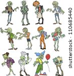zombie group | Shutterstock .eps vector #110685440