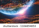 global network. big data planet ... | Shutterstock . vector #1106854853