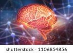 human brain. neural networks... | Shutterstock . vector #1106854856