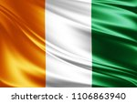 ivory coast flag of silk 3d... | Shutterstock . vector #1106863940