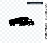 semi truck vector icon isolated ... | Shutterstock .eps vector #1106869220
