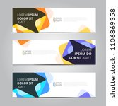 vector abstract design banner... | Shutterstock .eps vector #1106869358