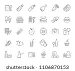 food and drinks  production and ... | Shutterstock .eps vector #1106870153