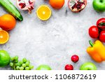 fresh vegetables and fruits for ... | Shutterstock . vector #1106872619