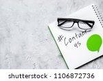 client support service workdesk ... | Shutterstock . vector #1106872736