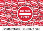 sign stop sign set do not enter ... | Shutterstock . vector #1106875730
