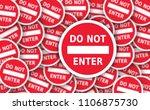 no ban stop sign set do not... | Shutterstock . vector #1106875730
